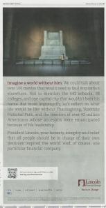 Lincoln print ad