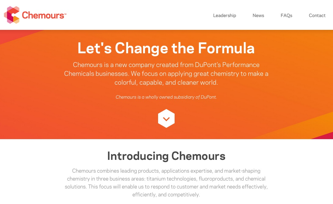 DuPont misfires with Chemours – Namedroppings